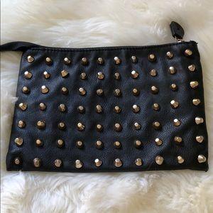 Zara small studded clutch
